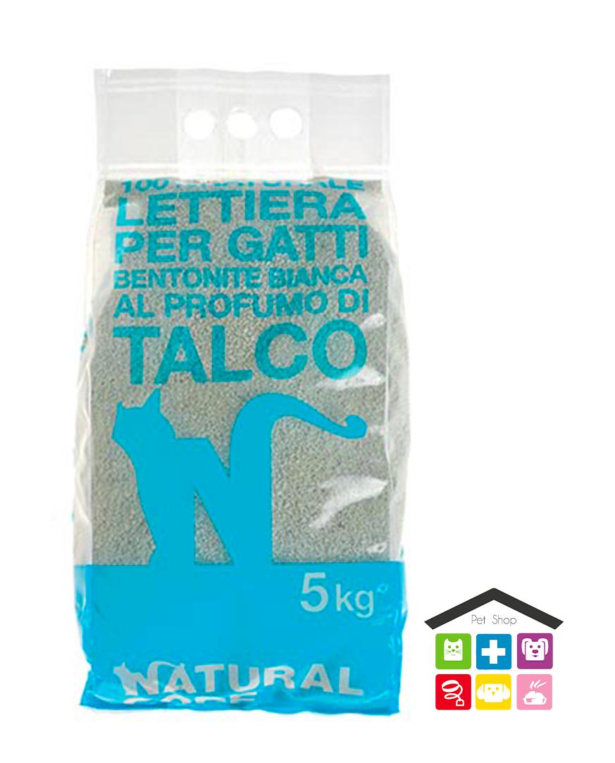 Natural code LETTIERA BENTONITE 5kg talco