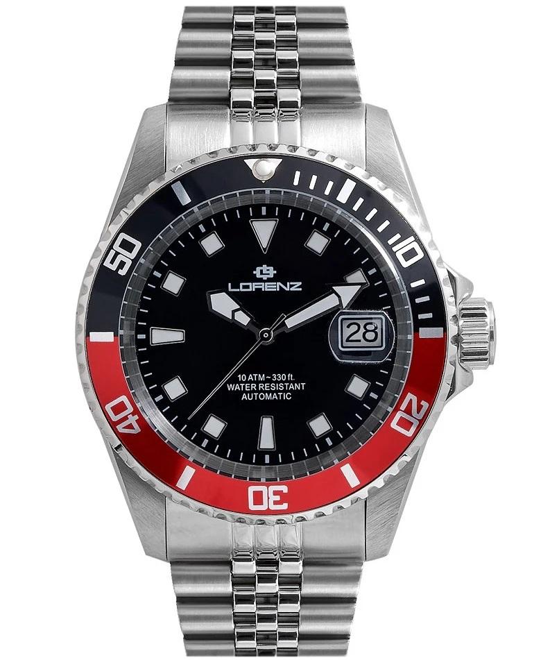 Lorenz Orologio Submariner - Black/Red