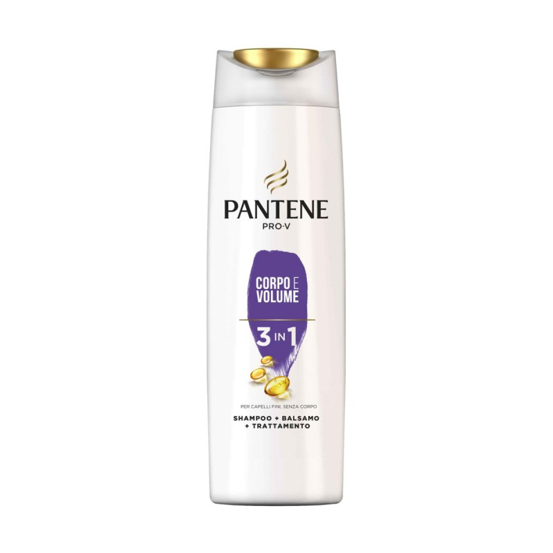 PANTENE Shampoo + Balsamo Corpo e Volume 3 in 1 225 ml