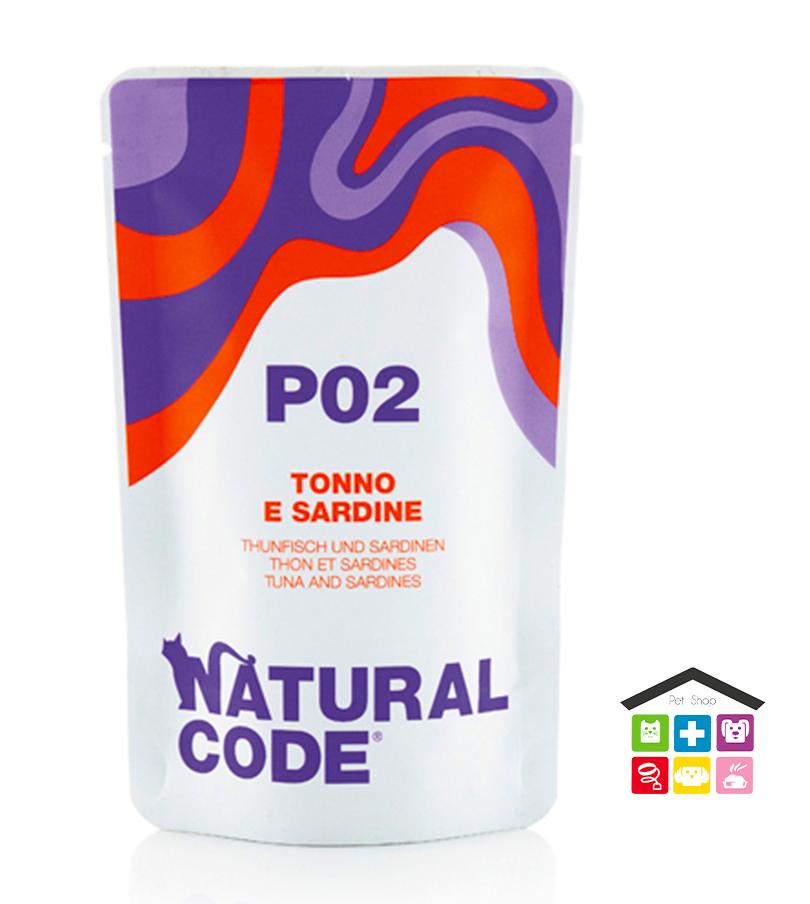 Natural code P02 TONNO E SARDINE busta  0,70g