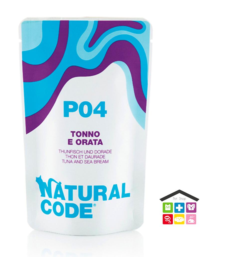 Natural code P04 TONNO E ORATA busta 0,70g