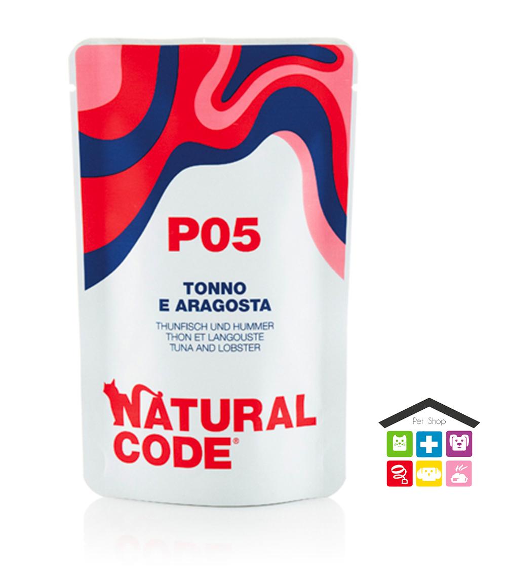 Natural code P05 TONNO E ARAGOSTA busta 0,70g
