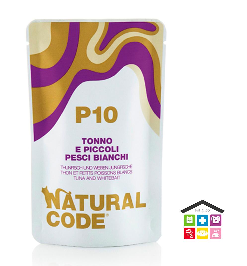 Natural code P10 TONNO E PICCOLI PESCI BIANCHI busta 0,70g