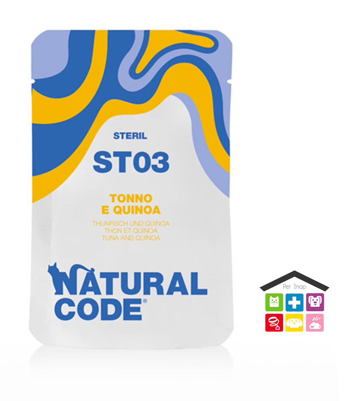 Natural code ST03 TONNO E QUINOA busta 0,70g