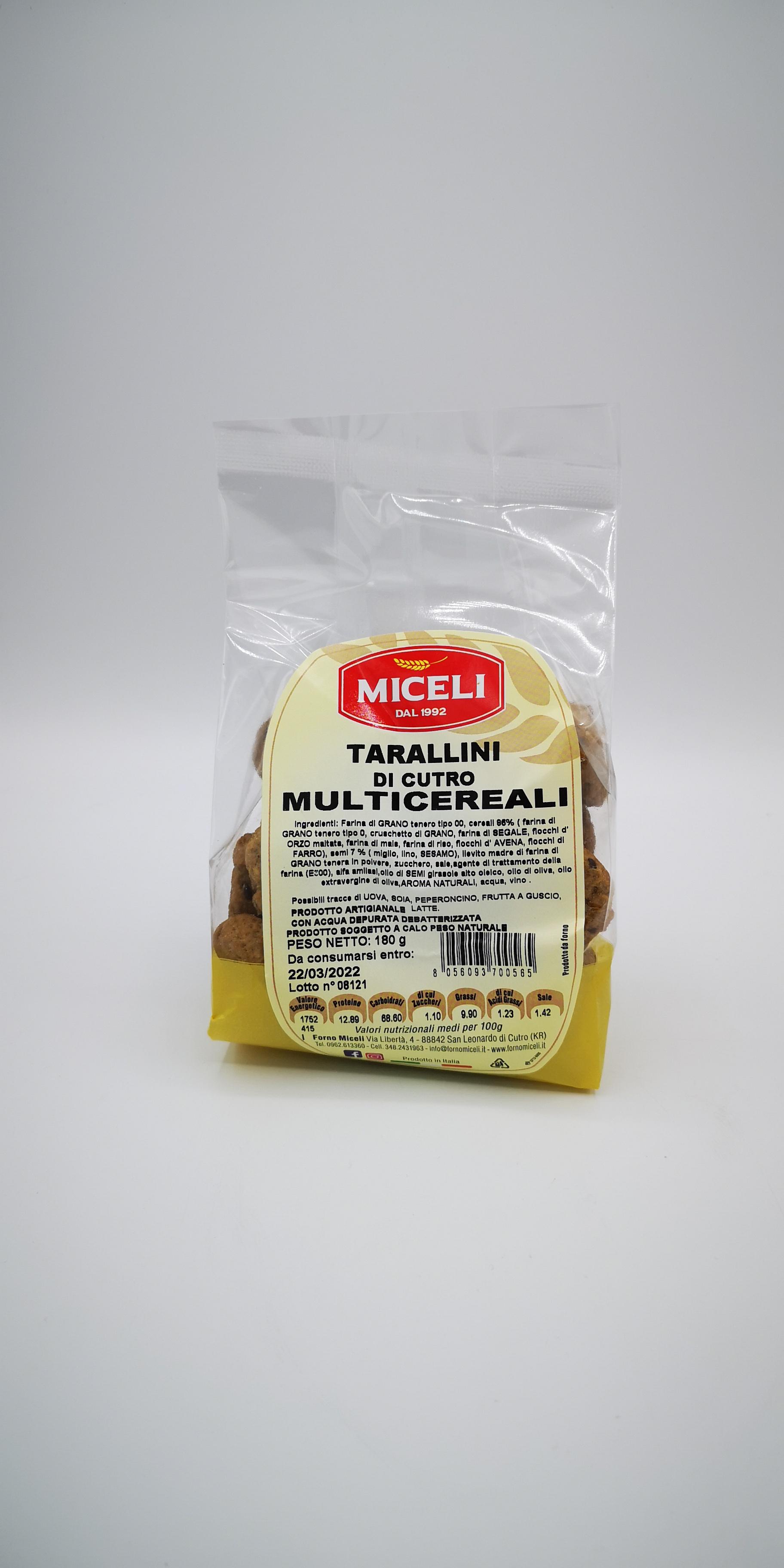 MICELI TARALLINI DI CUTRO MULTICEREALI GR.180