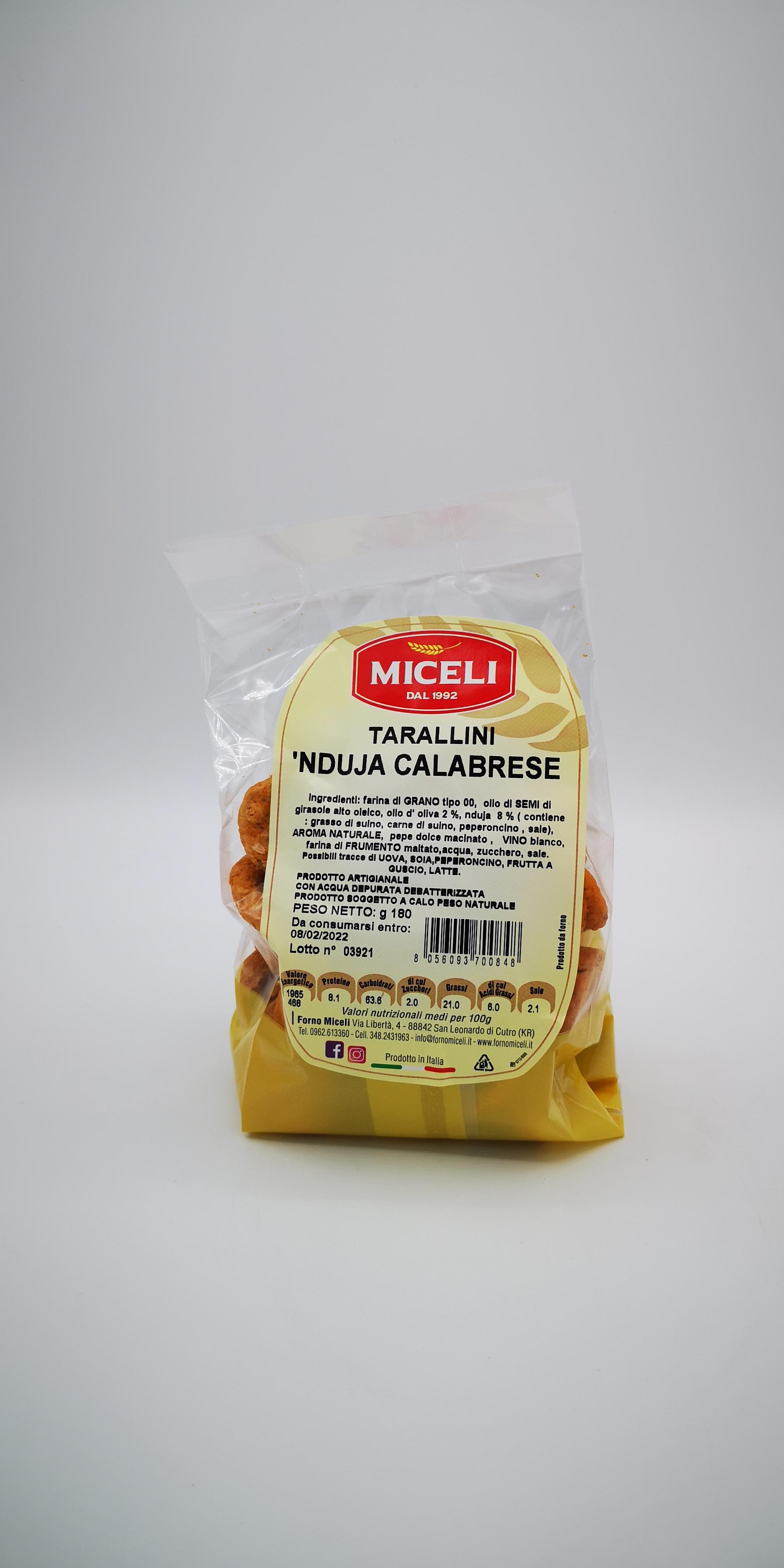 MICELI TARALLINI DI CUTRO ALLA NDUJA CALABRESE GR.180