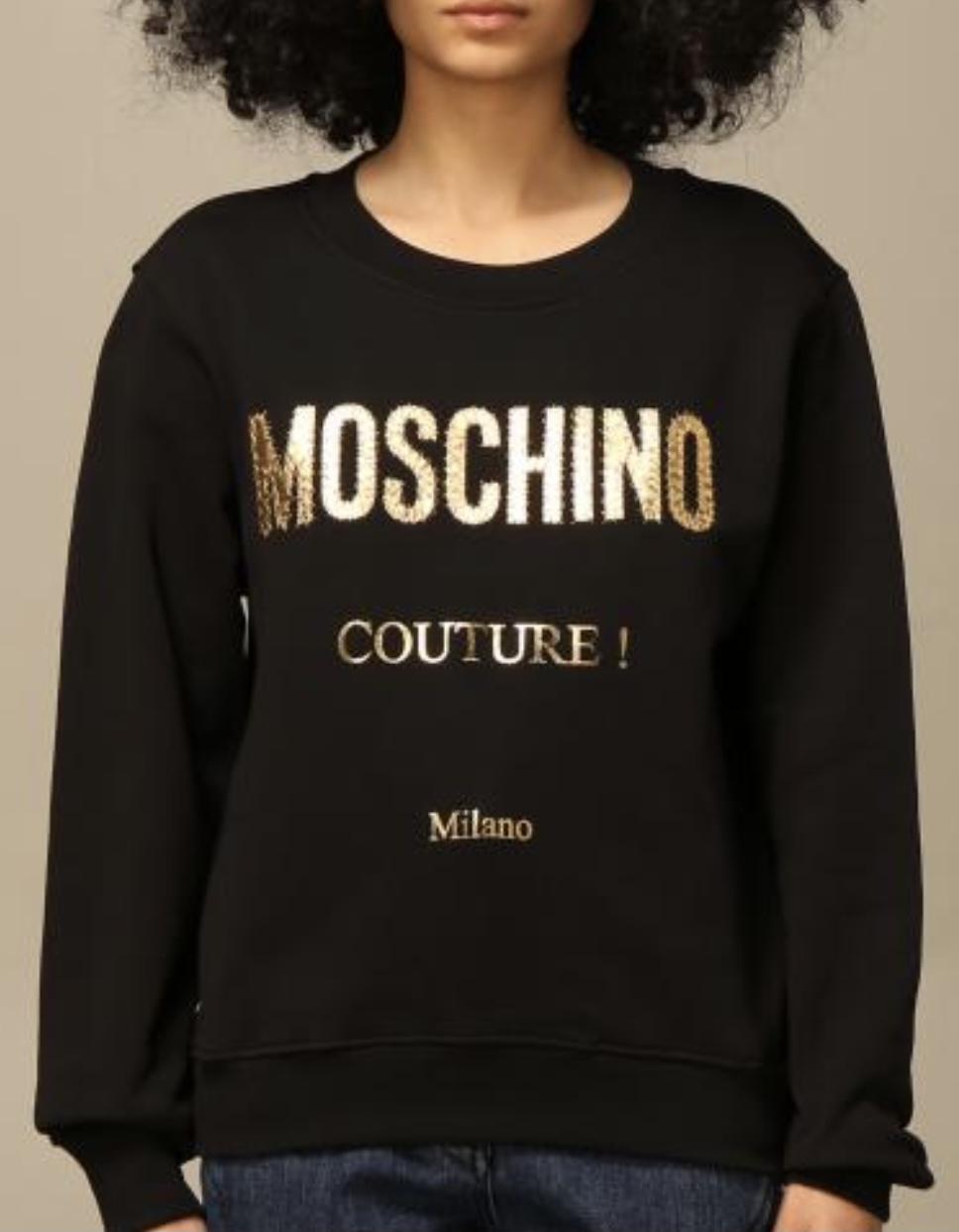 Felpa nera Moschino