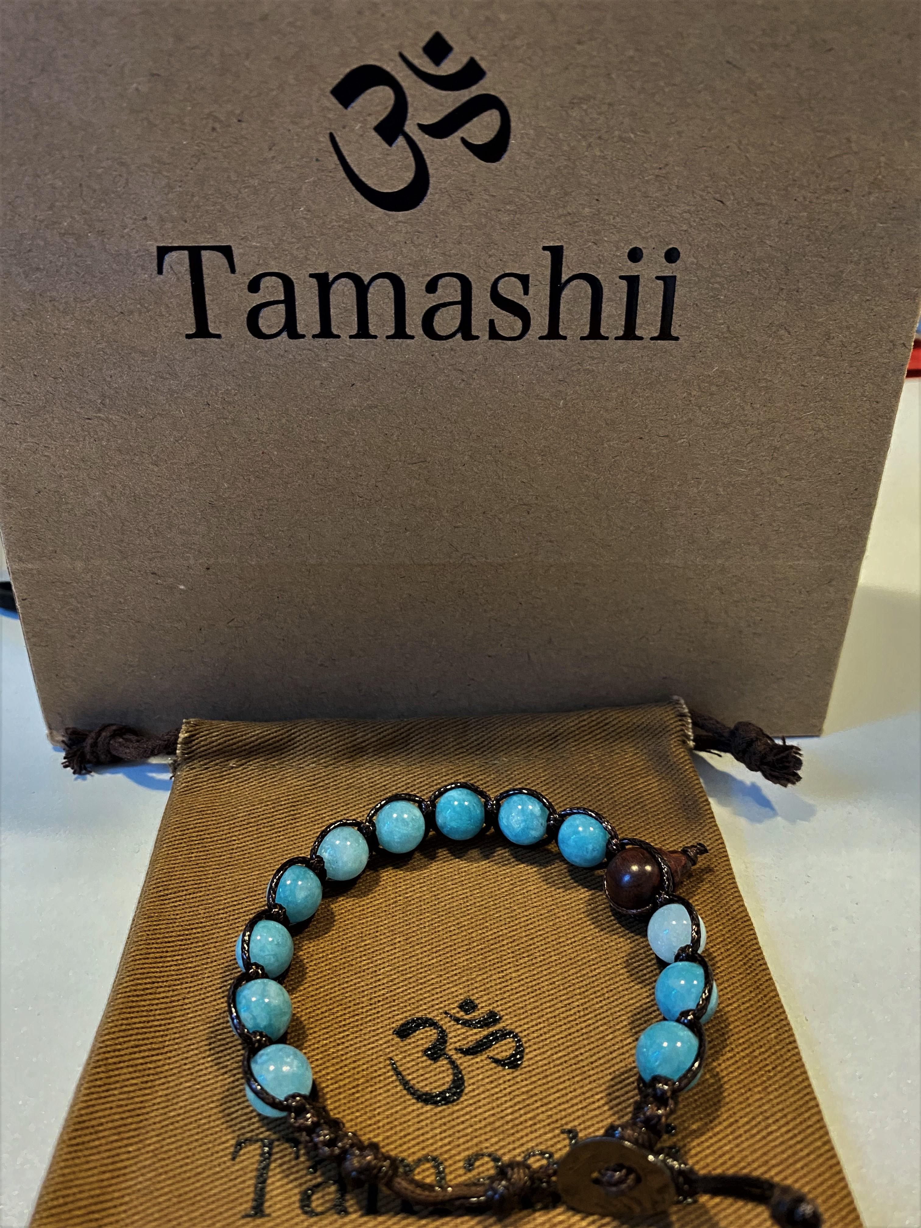 Bracciale Tamashii con Giada verde acqua