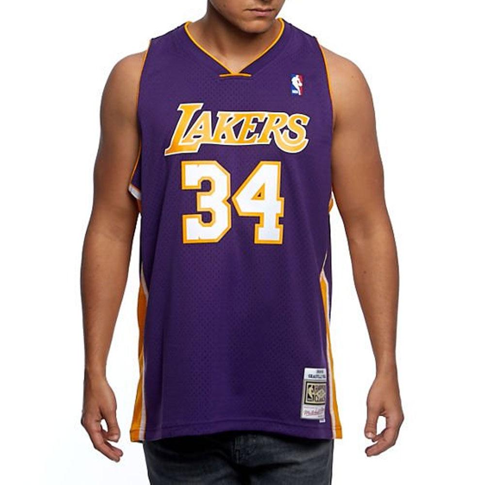 Mitchell e Ness Canotta Nba Lakers Viola da Uomo