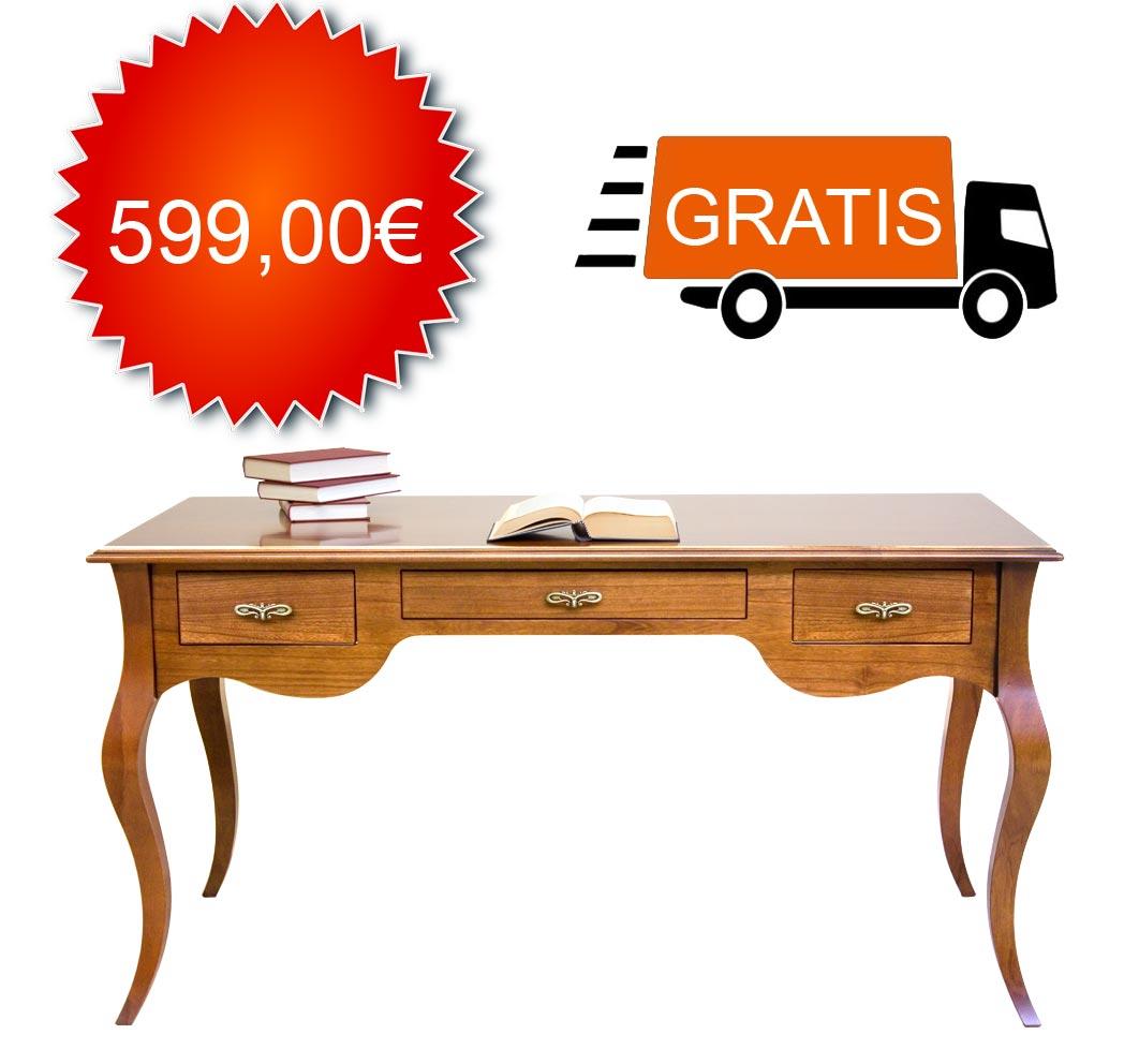 Schreibtisch 130 cm breite Klassisch - Angebot