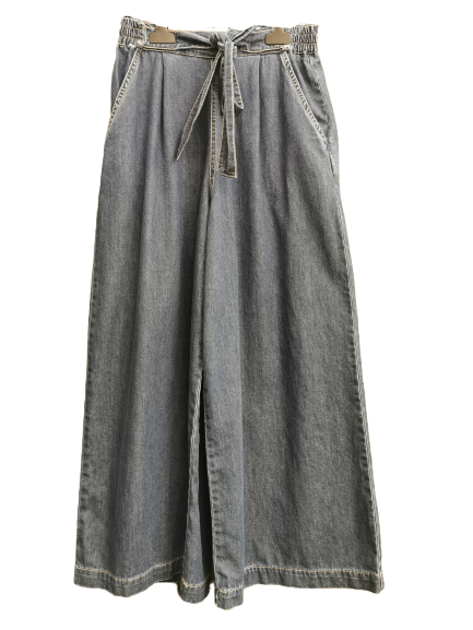 Jeans donna |con cintura ed elastico in vita | largo al fondo |Made in Italy