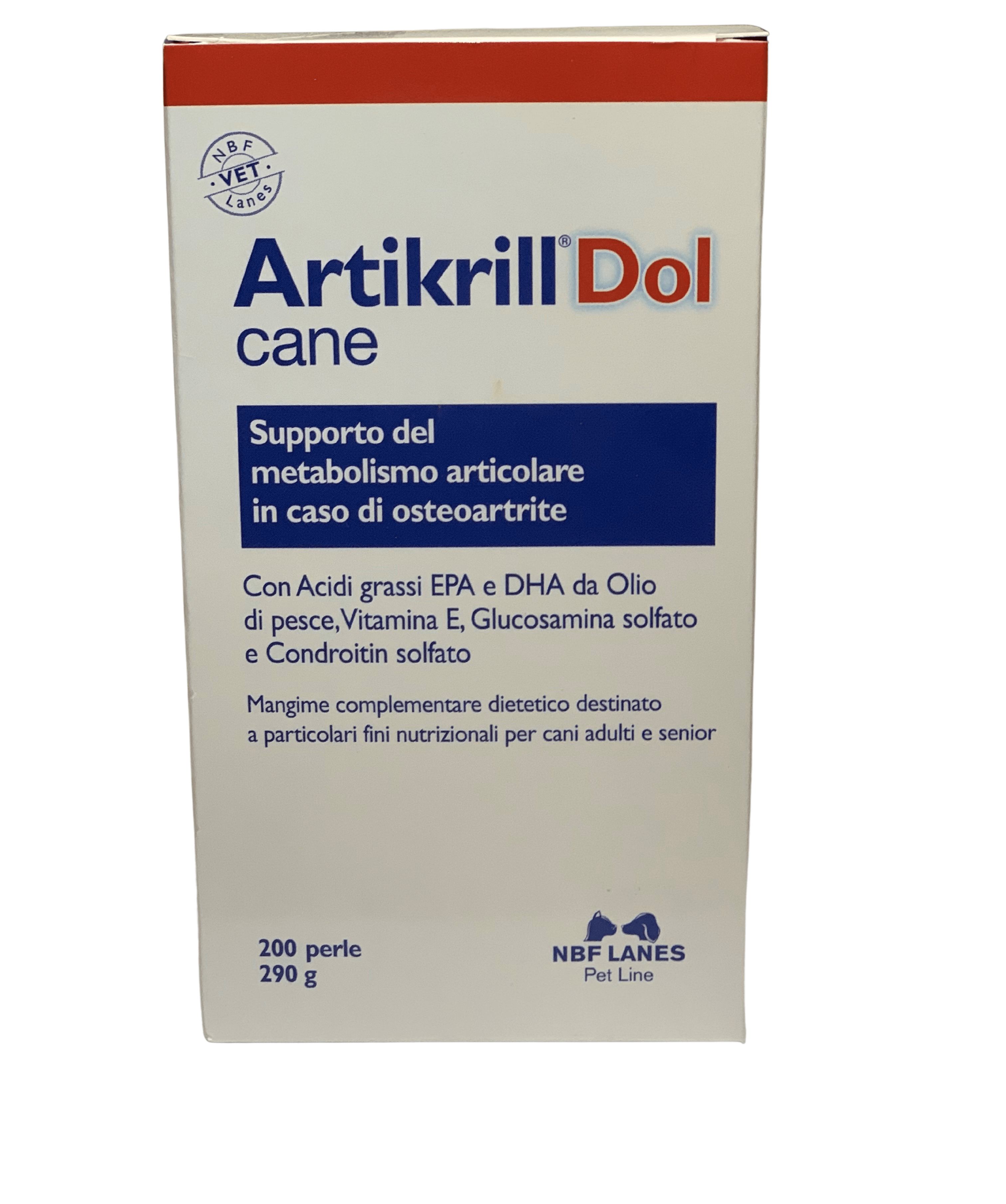 Artikrill DOL CANE 200 perle – Contro osteoartrite e infiammazioni