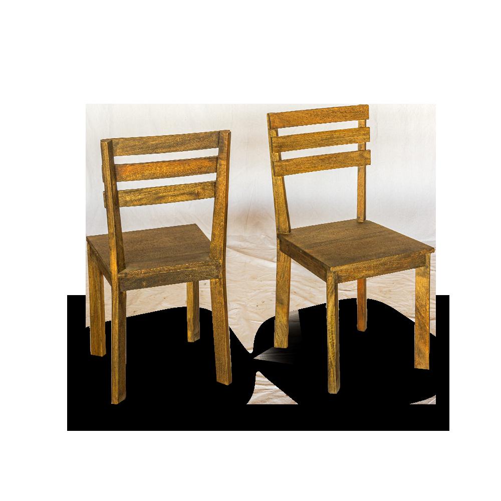 Sedie in legno di acacia con finitura opaca