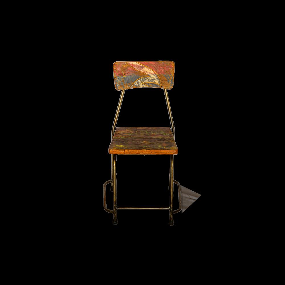 Sedia in legno di teak recuperato dalle vecchie imbarcazioni