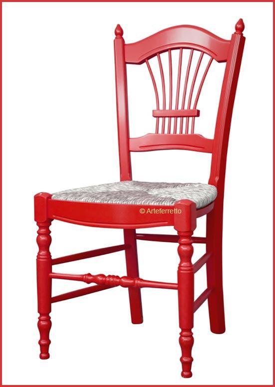 "Stuhl mit Strohsitz ""Spiga color"""