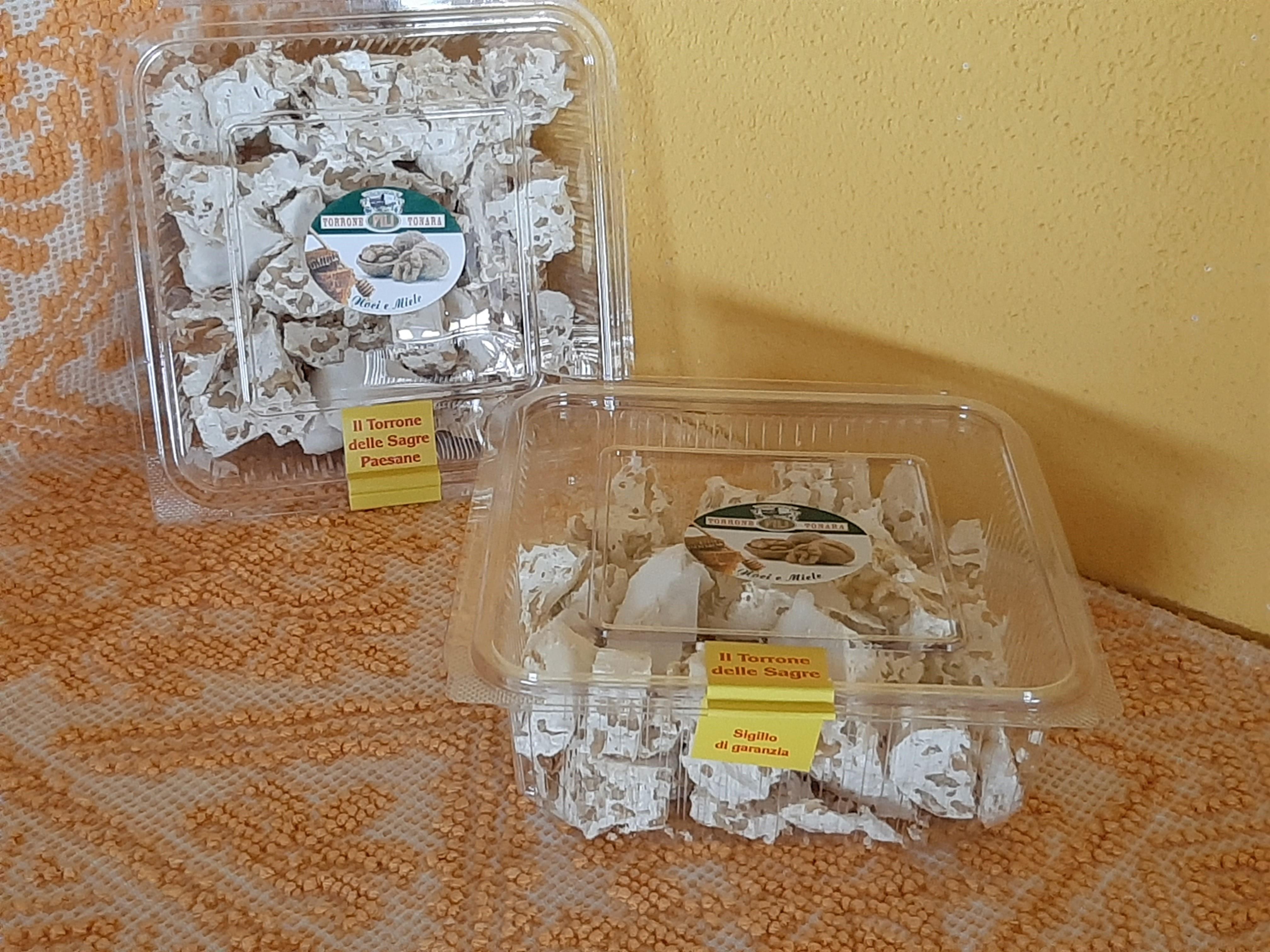 Vaschetta Torrone Noci e Miele - Tagliato a pezzi - 400g