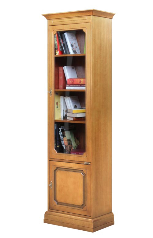Space saving bookcase in wood
