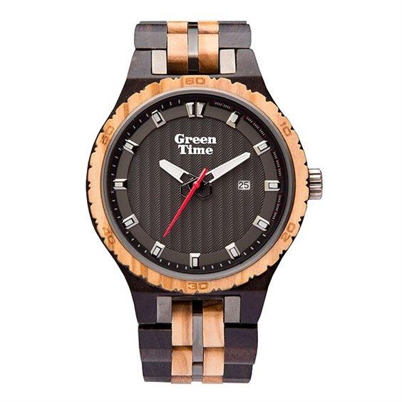 Orologio uomo in legno ulivo ed Ebano Green Time ZW107B