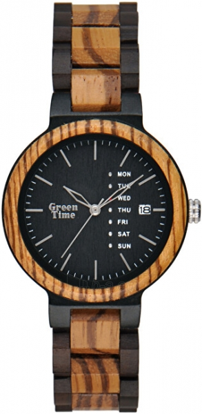 Orologio uomo solo tempo in legno zebrano Green Time ZW103C