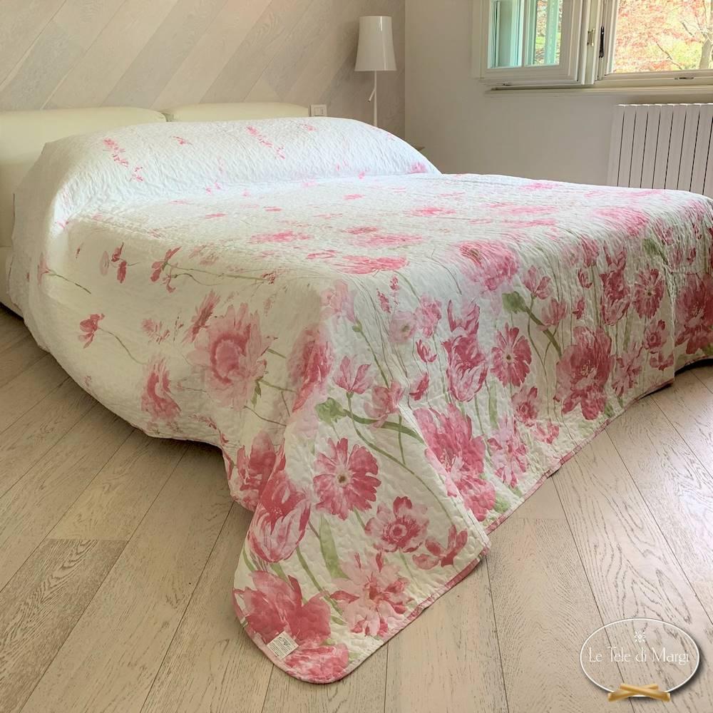 Boutis copriletto Diletta rosa