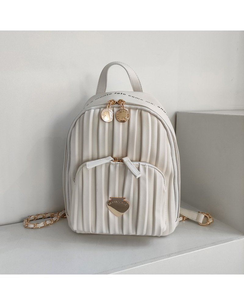 Le Pandorine Cris Backpack MARE White