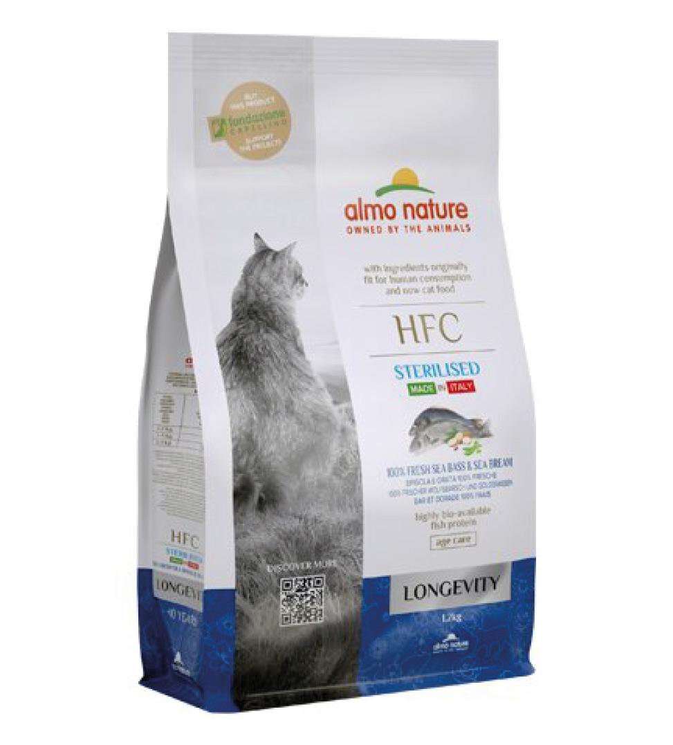 Almo Nature - HFC Cat - Longevity - Sterilised - Spigola e Orata - 1.2 kg