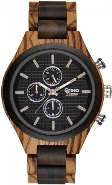 Orologio cronografo uomo in legno sandalo e zebrano Green Time ZW101A
