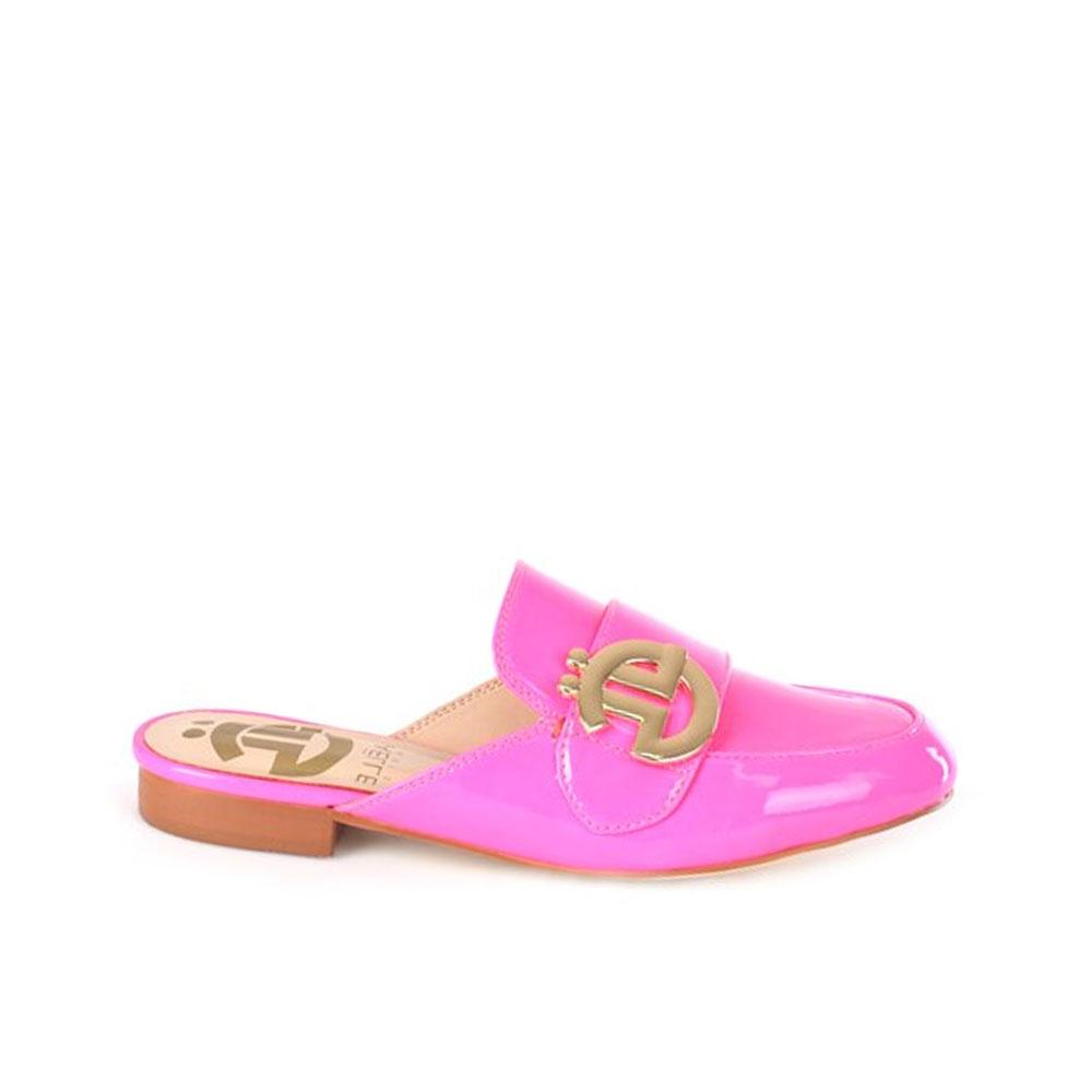 Gaelle Paris Mocassino Slipper con Logo da Donna