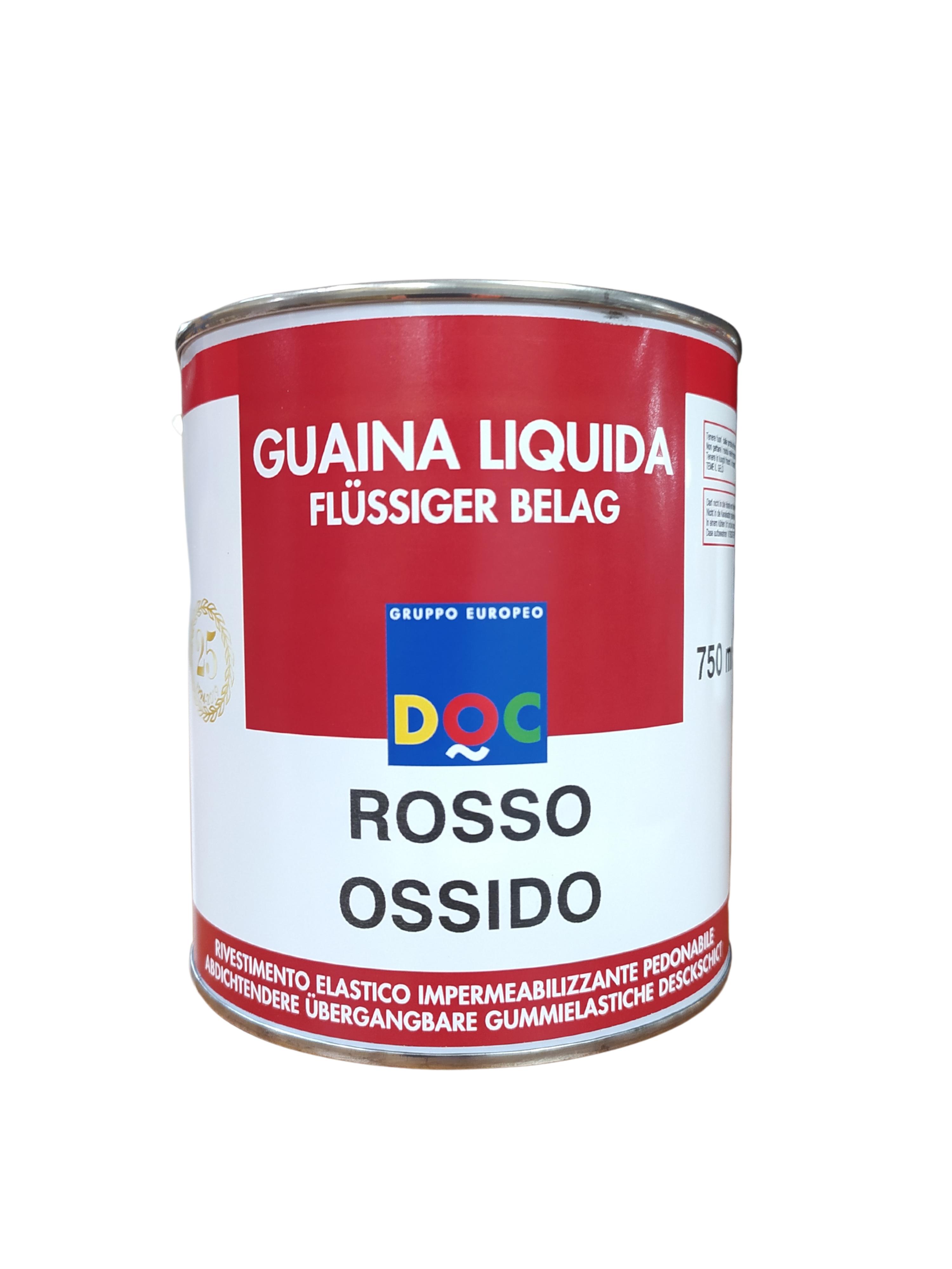 GUAINA LIQUIDA PEDONABILE ROSSO OSSIDO 750ML DOC