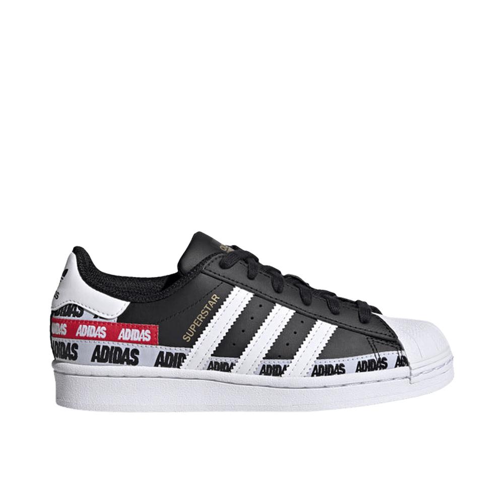 Adidas Superstar Multi logo Bianco Nero da Uomo