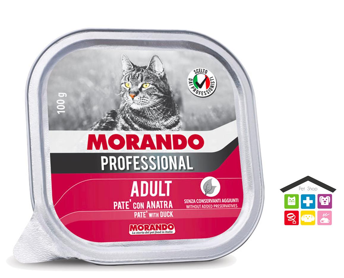 Morando Professional ADULT PATÈ CON ANATRA 100g