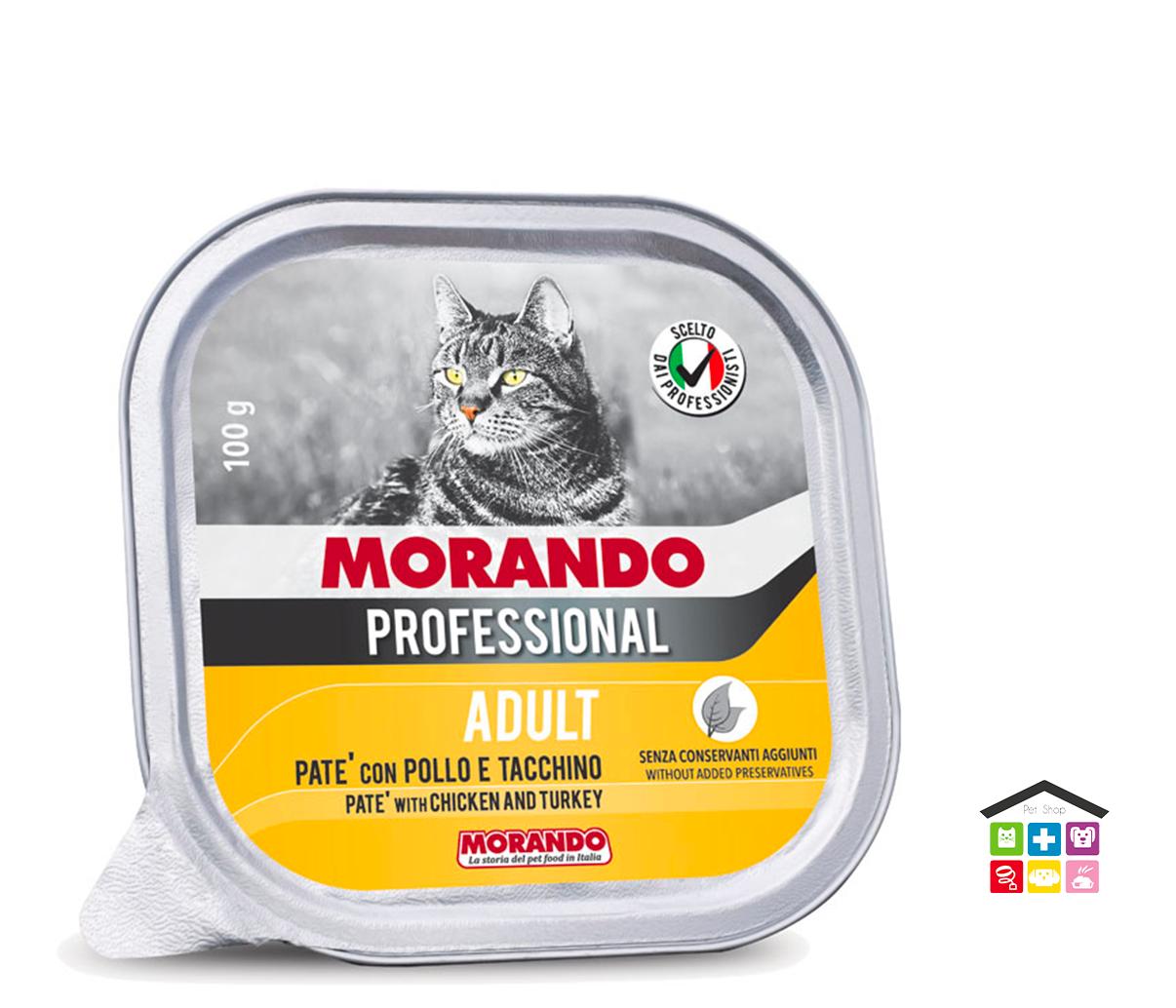 Morando Professional ADULT PATÈ CON POLLO E TACCHINO 100g