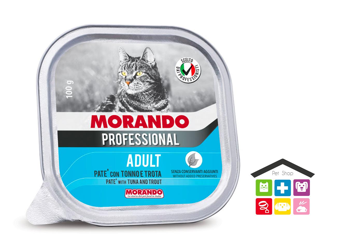 Morando Professional ADULT PATÈ CON TONNO E TROTA 100g