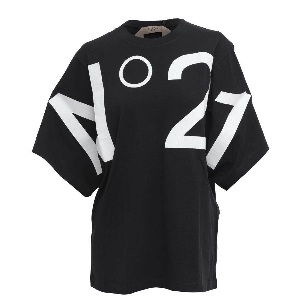 N° 21 - T-SHIRT LOGO OVERSIZE - COL. NERO