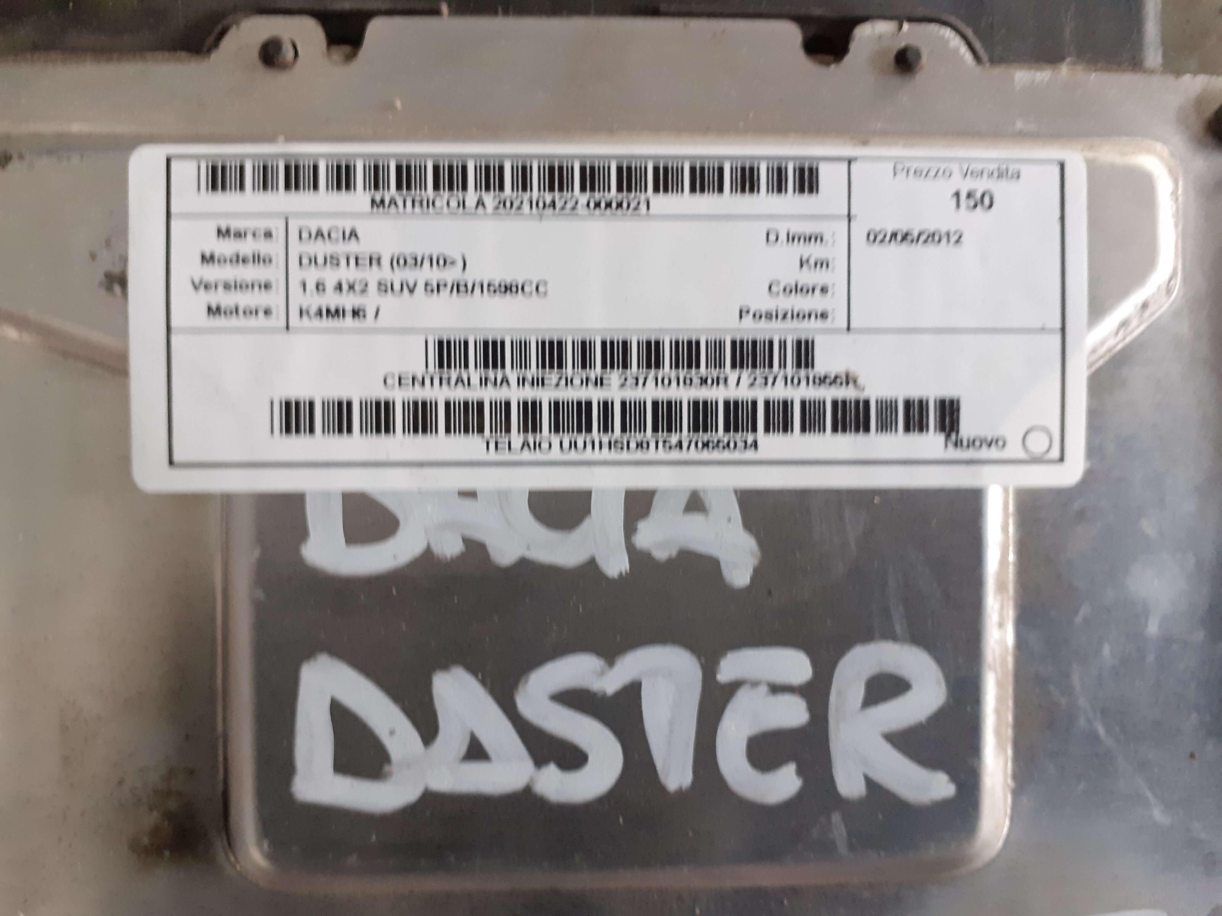 Centralina iniez. usata Dacia Duster (03/10>) 1.6 4x2