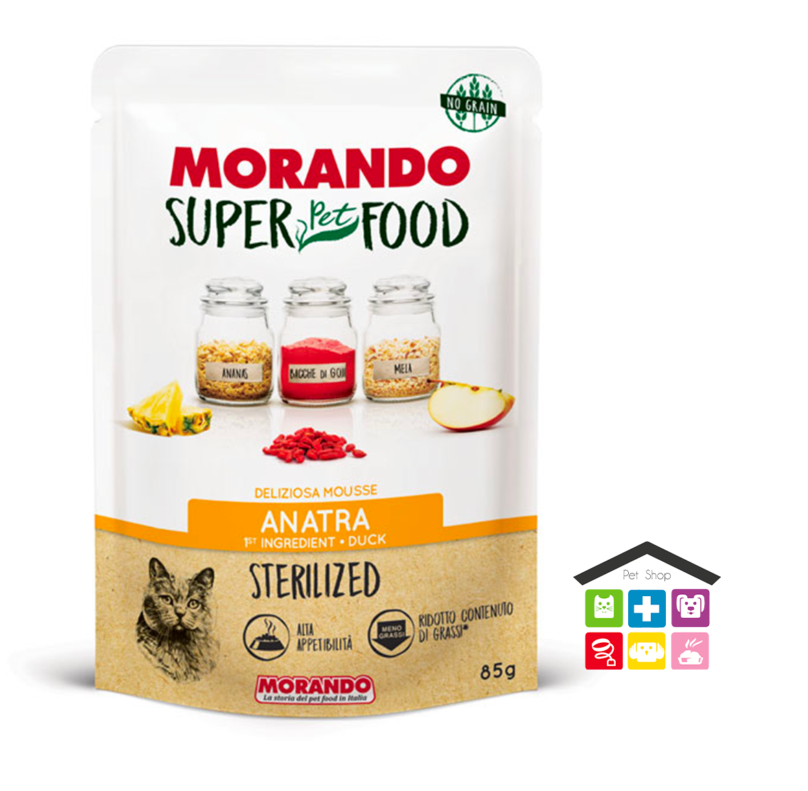 Morando SuperPetFood STERILIZED MOUSSE ANATRA 0,85g bustina
