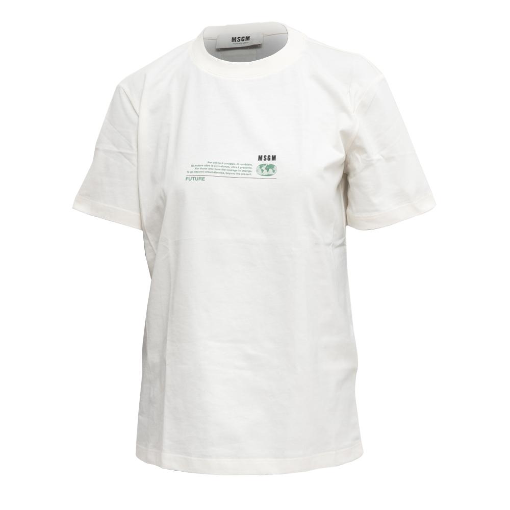 MSGM - T-SHIRT FUTURE - COL. BIANCO