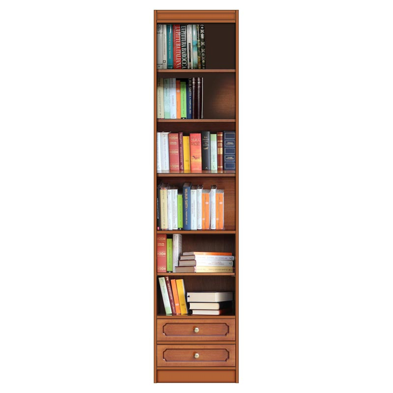 Modular bookcase with 2 drawers