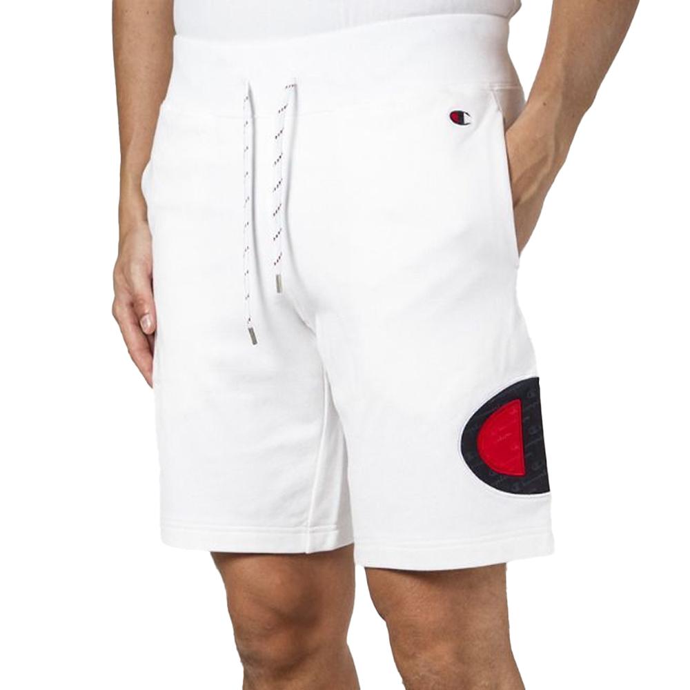 Champion Bermuda Sportivo con Logo Bianco da Uomo