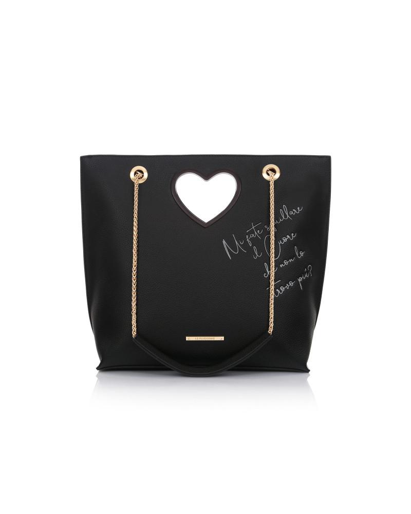 Le Pandorine Love Bag CUORE Black