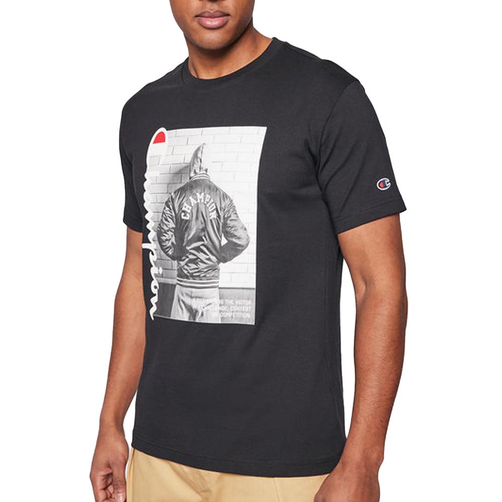 Champion T-Shirt con stampa Nera da Uomo