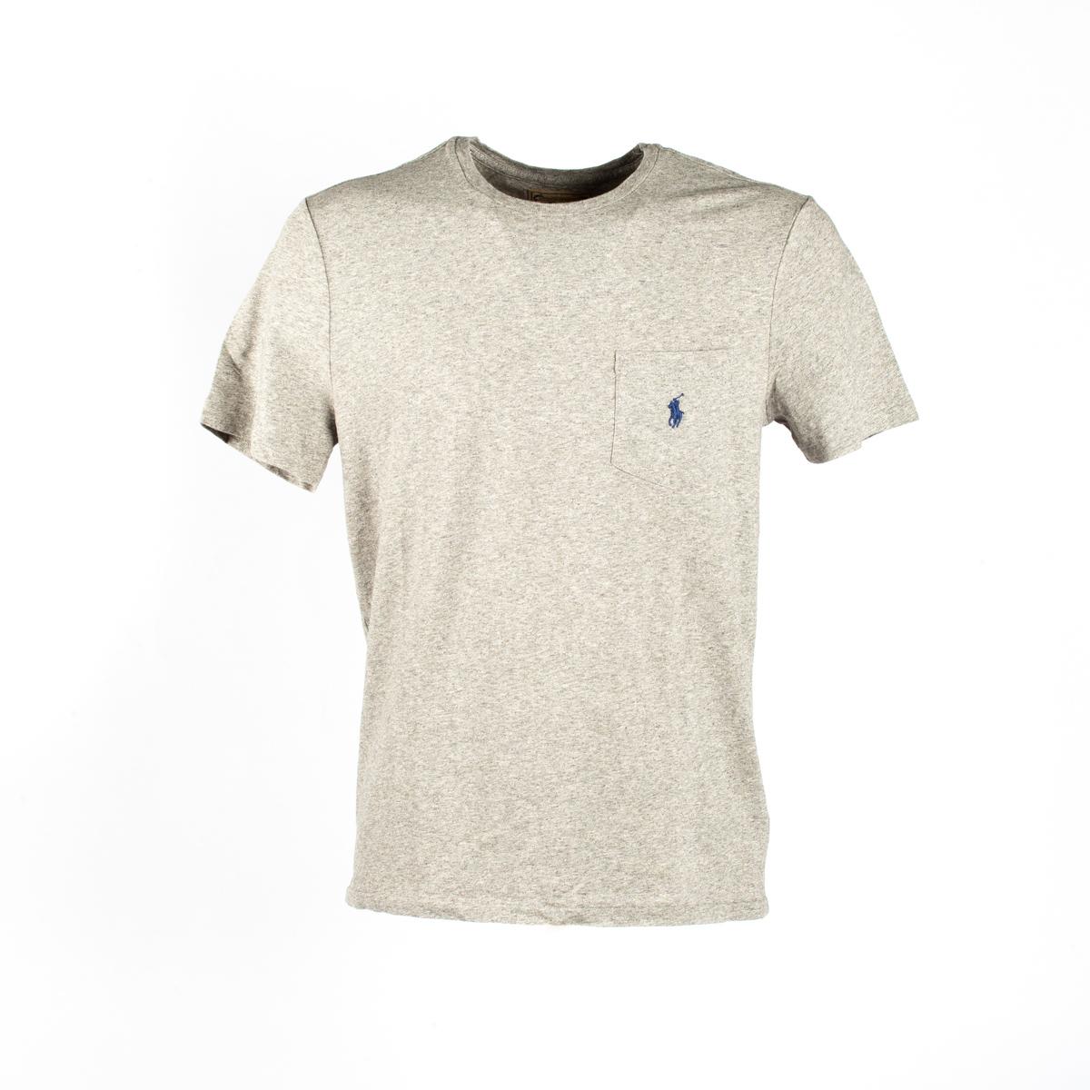 T-Shirt Manica Corta Polo Ralph Lauren Grigio Perla