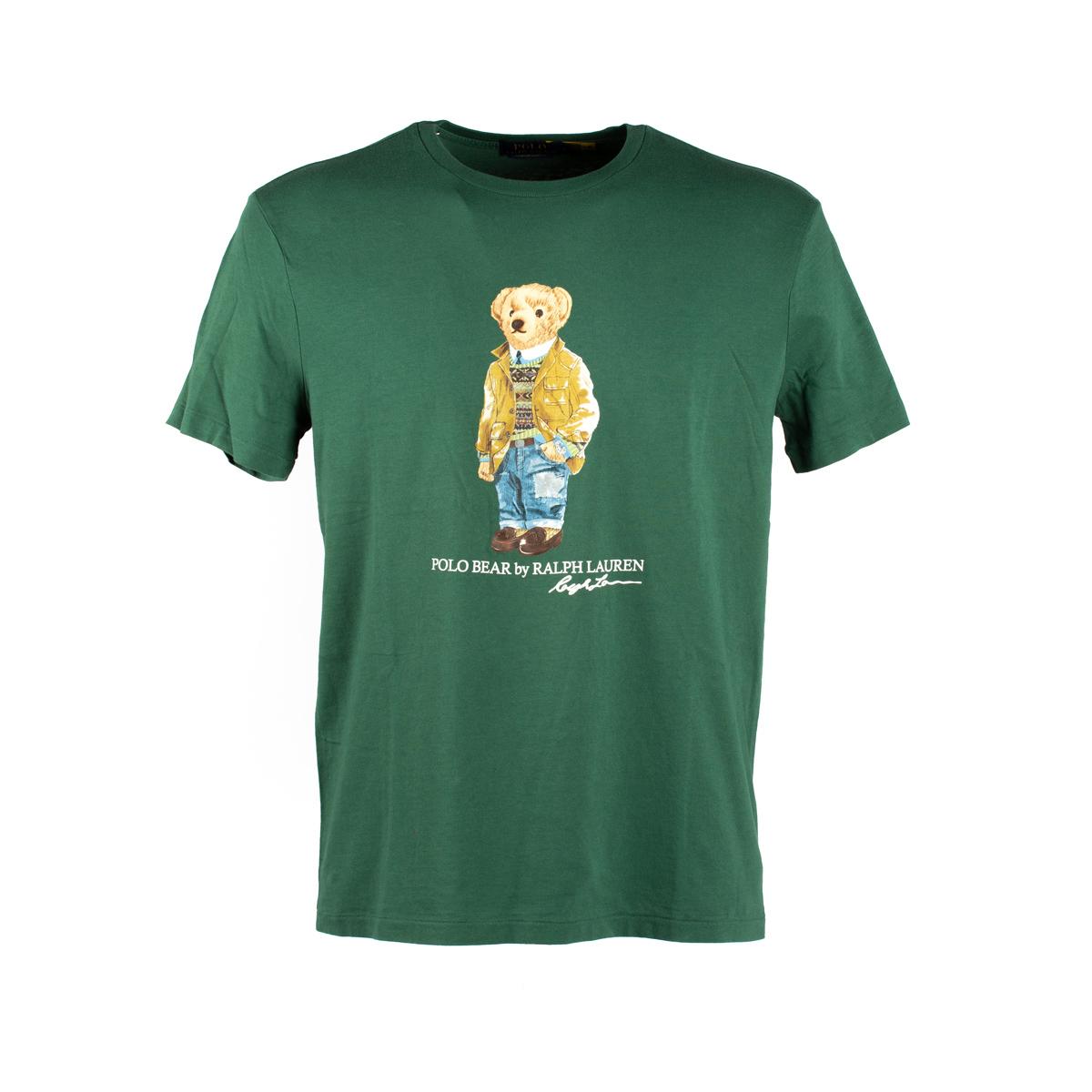 T-Shirt Polo Ralph Lauren Verde stampa orsetto