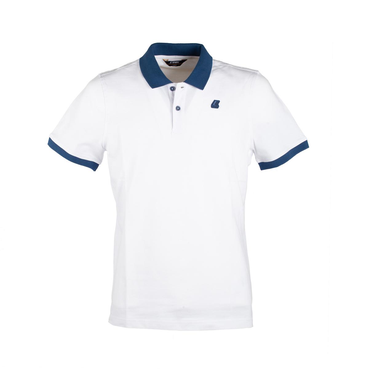 Polo Manica Corta K-Way Vincent Bicolor Bianco