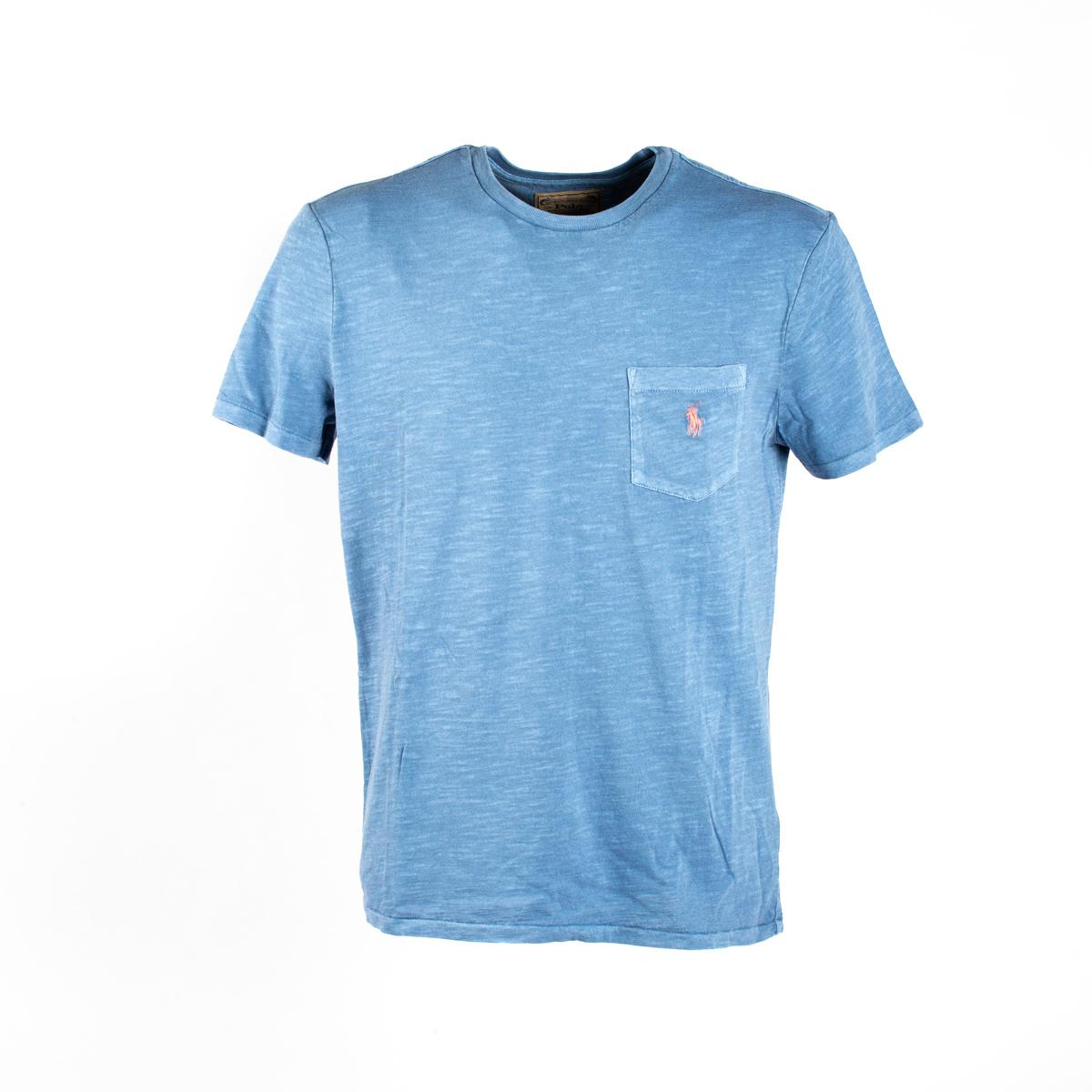 T-Shirt Polo Ralph Lauren con Taschino Azzurra