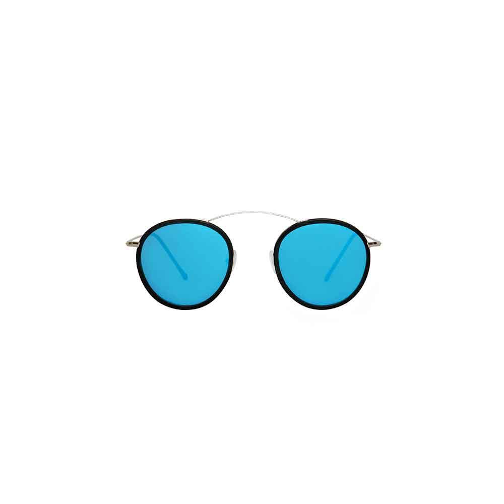 Occhiali da sole specchio blu collezione Met-ro 2 Flat ad alta protezione