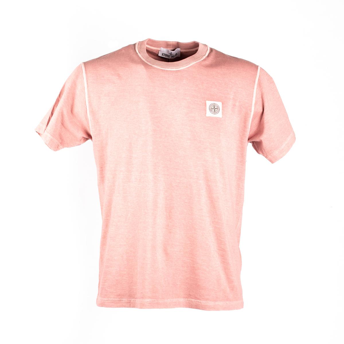 T-shirt Stone Island Rosa Antico