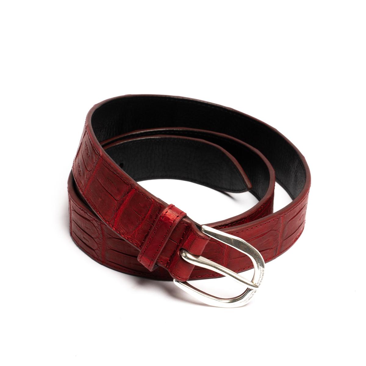 Cintura Orciani Cocco Coda Color Rosso