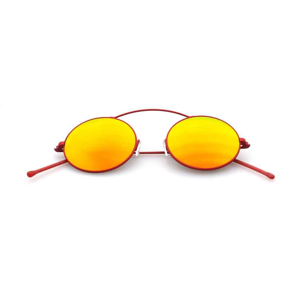 Occhiali da sole specchio giallo collezione Met-ro ad alta protezione