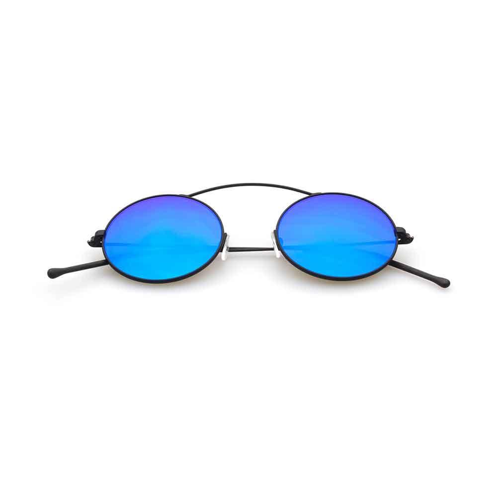 Occhiali da sole specchio blu collezione Met-ro ad alta protezione